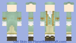 [LOTC] Light blue and gold colonial Minecraft Skin