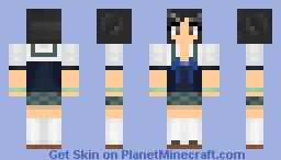 Schoolgirl with 3D pigtails Minecraft Skin