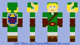 8-Bit Adult Link Ocarina of Time Minecraft Skin