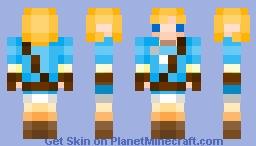 8-Bit Link from LOZ: Breath Of The Wild Minecraft Skin