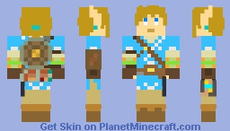 8-Bit Link Breath of The Wild (Champion's Tunic) Minecraft Skin