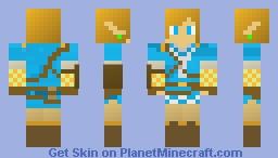 Link BOTW Minecraft Skin