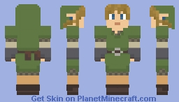 Skyward Sword Link Minecraft Skin