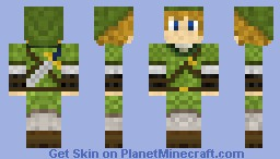 Link : The Hero Of Zelda ! Minecraft Skin