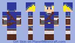 blue link Minecraft Skin