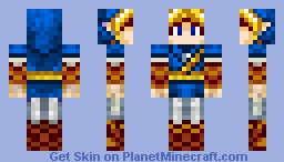 Link - Blue Minecraft Skin
