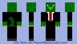 Lizzardman in business suit Minecraft Skin