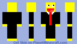 LOL face in a Suit Minecraft Skin