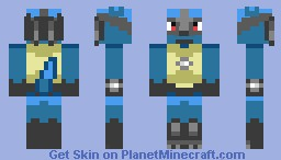 Lucario skin Minecraft Skin