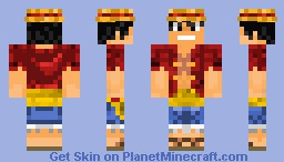Monkey D. Luffy Minecraft Skin