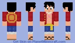 Monkey D Luffy Minecraft Skin