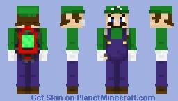 Luigi (With Poltergust G-00) - Luigi's Mansion 3 Minecraft Skin