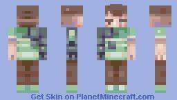 Luke Warm Green Minecraft Skin
