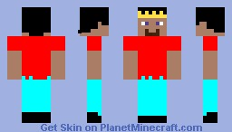 A Cool King Minecraft Skin