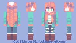 Collab with Lxna! // + speedpaint Minecraft Skin