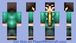 Lupin III (Green) from Lupin III Minecraft Skin