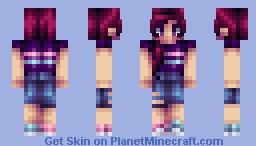 Magenta Minecraft Skin