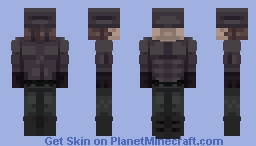the man in the black mask Minecraft Skin