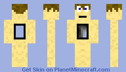 man with hole Minecraft Skin