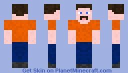 Man With Mustasch Minecraft Skin