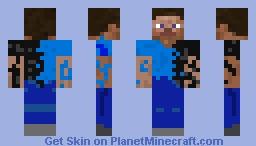Half Man (Without corruption on Head) Minecraft Skin