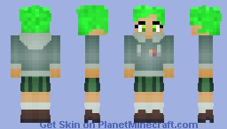 💚Marcy Wu💚 Green Power Calmity Box [Earth Outfit 🌎] [Amphibia] Minecraft Skin