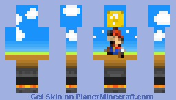 Mario World Minecraft Skin