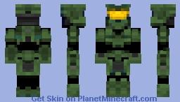 Halo 3 Spartan: Master Chief (Updated) Minecraft Skin