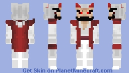 White Oni Minecraft Skin