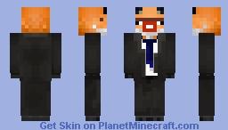 Business Fox Minecraft Skin