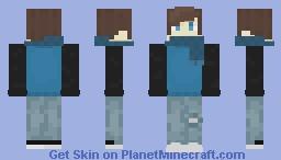 Boy with scarf and jacket Minecraft Skin