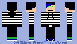Guy in hoodie w/ blue hair (me) Minecraft Skin