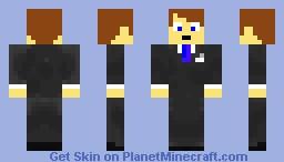 suited man Minecraft Skin