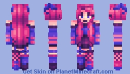 pink devil - happy birthday mei! Minecraft Skin