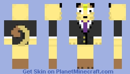 Meowth in a suit Minecraft Skin