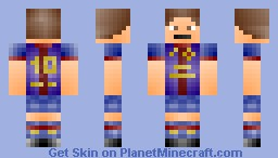 Lionel Messi (FC Barcelona) Minecraft Skin