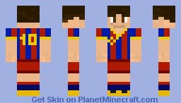 Lionel Messi Minecraft Skin - Skin para minecraft pe de messi