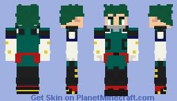 MHA - Izuku Midoriya (Additional equipment in describtion) Minecraft Skin