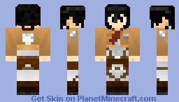 Tar skin Attack on Titan : Mikasa Minecraft Skin