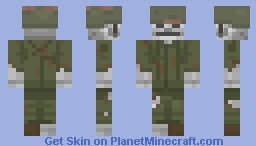 Fallout 4: Dead soldier Minecraft Skin