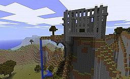 Abandoned Mountain Top Castle with Tree Minecraft Project