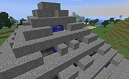 Double Pyramid with internal water fountain Minecraft Project