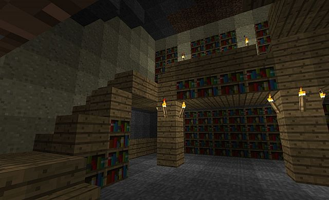 2 Floor Library Minecraft Project