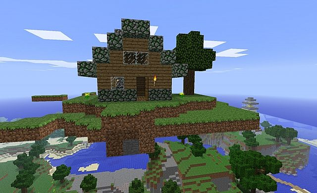 Little House On The Floating Island Minecraft Map