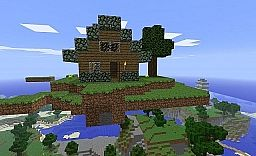 Little house on the floating island Minecraft Project