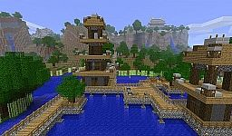 Pagoda over the water and Mountain Temple Minecraft Map & Project