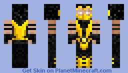 Mortal combat - Scorpion Minecraft Skin