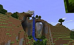 Skeletal Dragon Waterfall Minecraft Map & Project