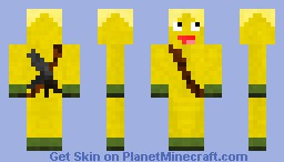 It's the Banana Man Minecraft Skin