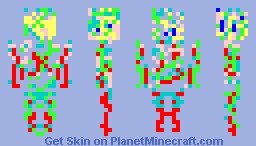 Minecraft Colorful Skin!!